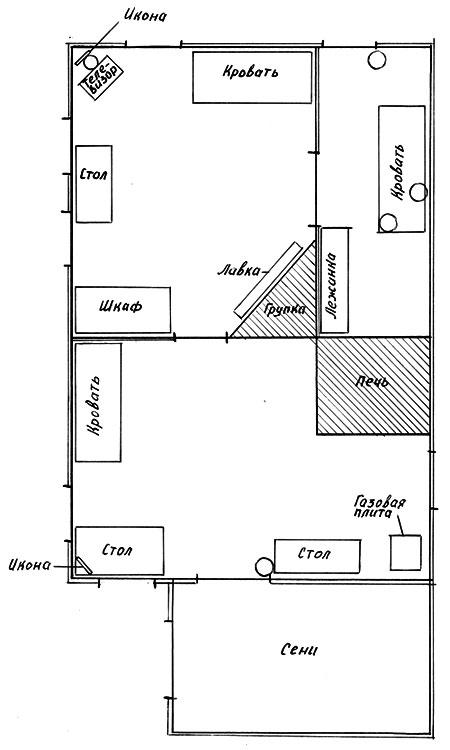 Схема дома, где происходили