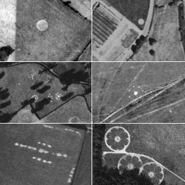 Пиктограммы на старых аэрофотоснимках