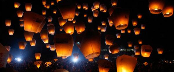 Массовый запуск на фестивале в Китае