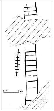 Один из рисунков на камне Тиуновского святилища [10].